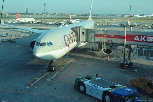 Aircraft at terminal
