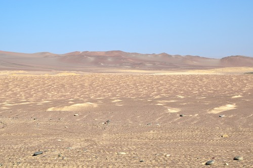 Arid desert in Paracas Peru