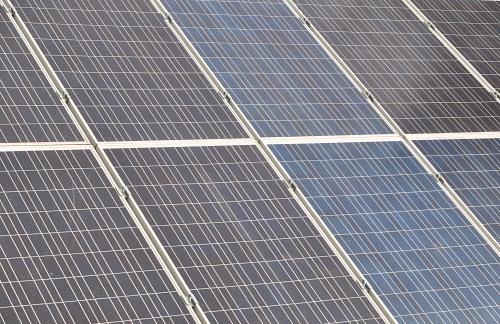 Array of solar energy panels