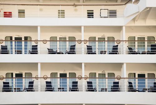 Balconies on cruise ship