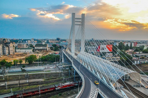 Basarab Overpass in Bucharest Romania