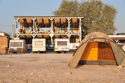 Beach tent and trailers