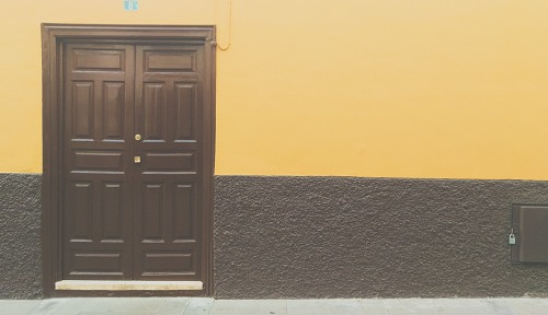 Beautiful painted house entrance door