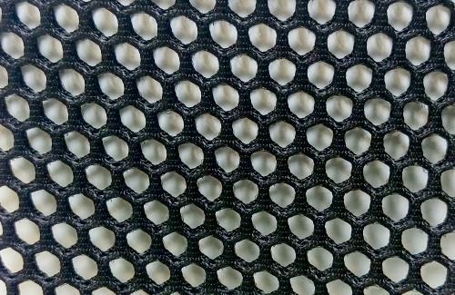 Black net textile