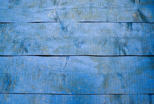 Blue wood floor boards