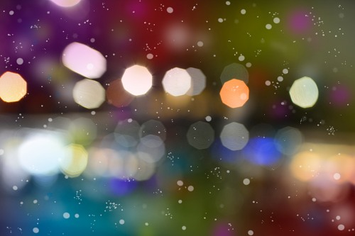 Blurred light snow
