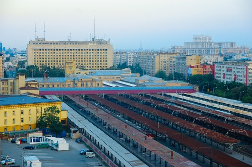 Bucharest North Train station and Palace of Parliament