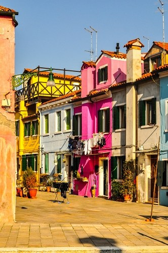 Burano painted houses