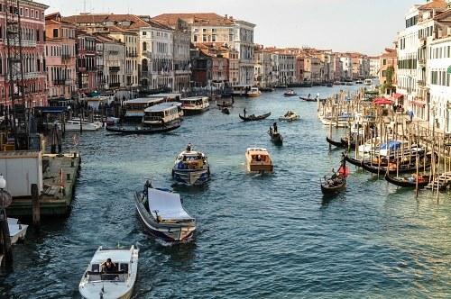 Busy Venice morning