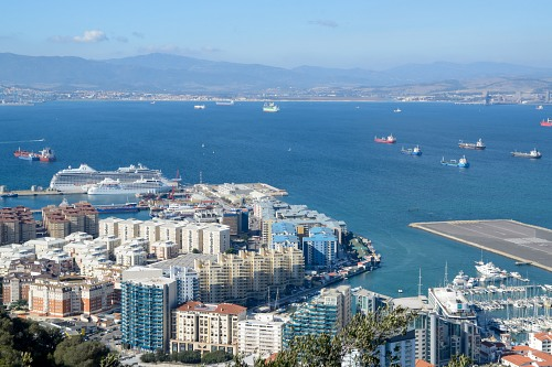 City and port of Gibraltar
