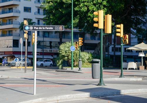 City sign street corner in Spain