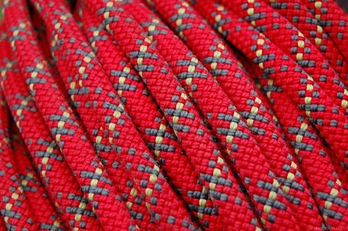 Climber red rope