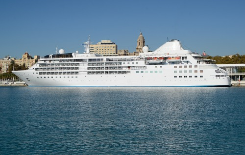 Cruise ship in holiday destination
