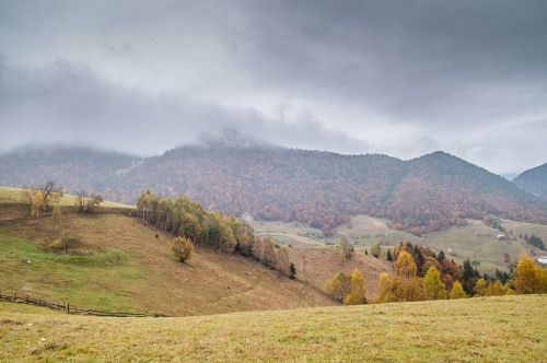 Dark autumn day hills