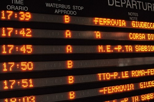 Departures display