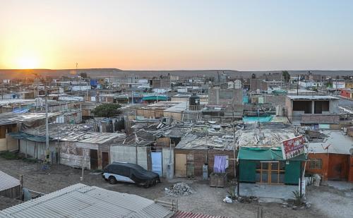 Desert shanty town