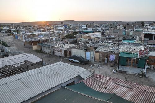 Desert shanty town in Peru
