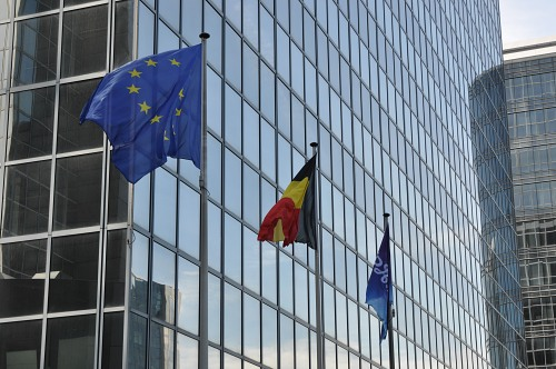 EU and Belgium flags