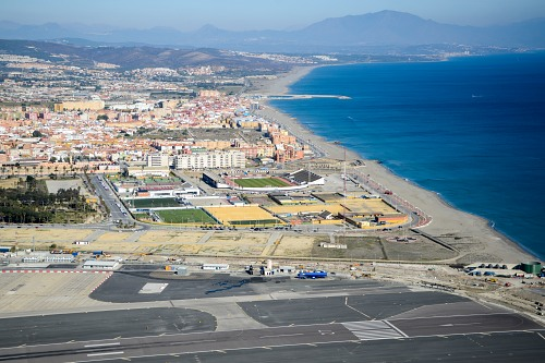 Gibraltar airport and city