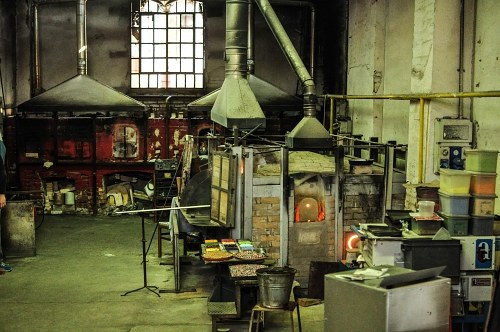 Glass factory in Murano