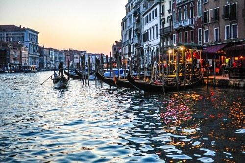 Gondola at sunset
