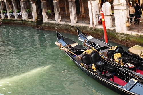 Gondolas on canal