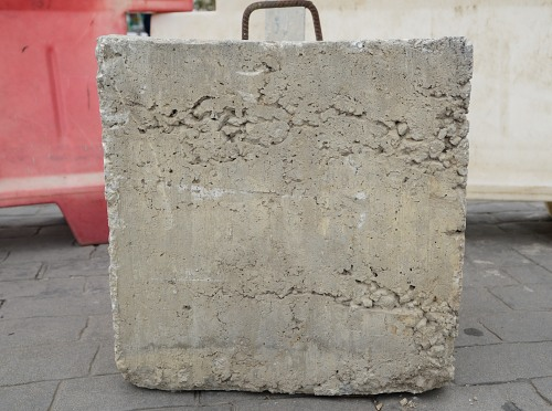 Heavy concrete square block texture