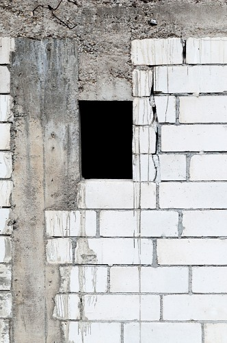 House wall window masonry