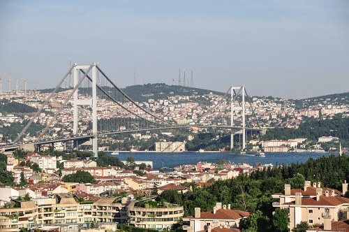 Istanbul Bosphrus strait bridge