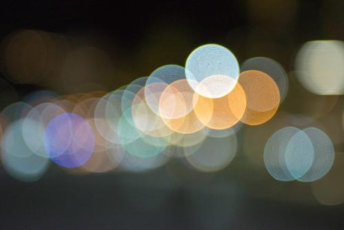 Lens blur light background