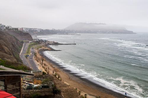 Lima Pacific ocean coast fog