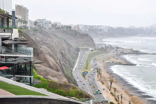 Lima coastal highway