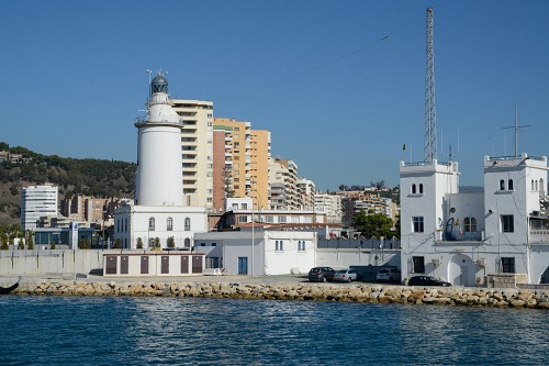Malaga lighthouse viewed from the sea