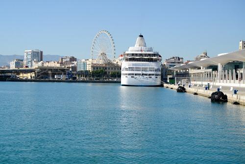 Malaga port dock