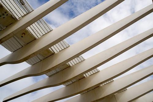 Modern concrete architectural arch