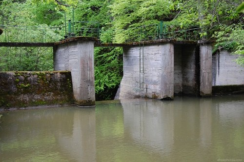 Mountain river dam