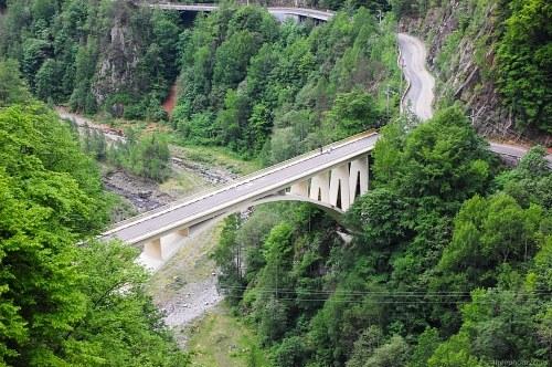 Mountain road bridge