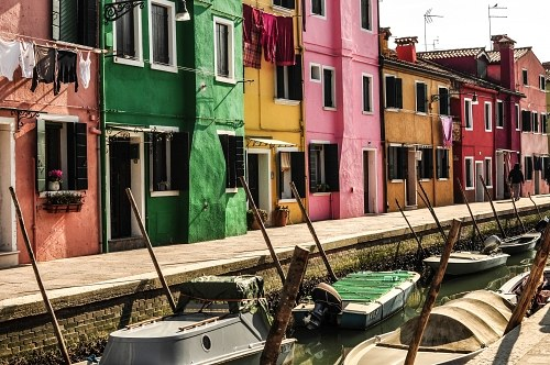 Multicolor houses in Burano