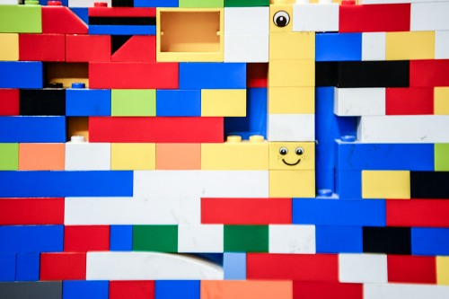 Multicolor lego blocks