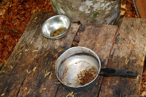 Old camping cooking pots