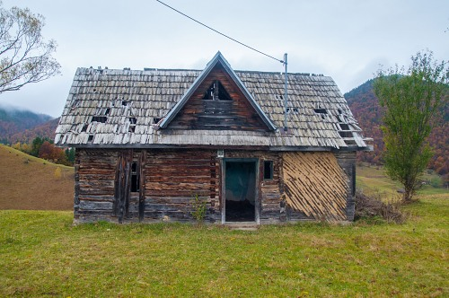 Old wooden cottage
