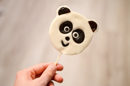 Panda bear lollipop
