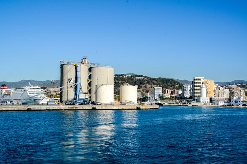 Port of Malaga from sea