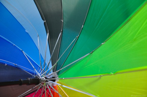 Rainbow umbrellas colors
