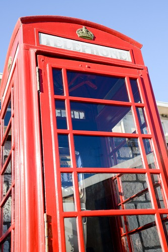 Red telephone booth in UK