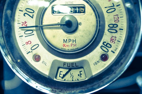 Retro speedometer from classic car