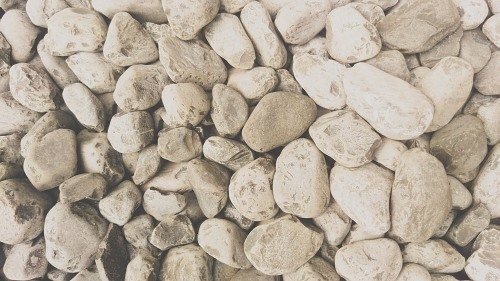 Rocks decoration river  floor