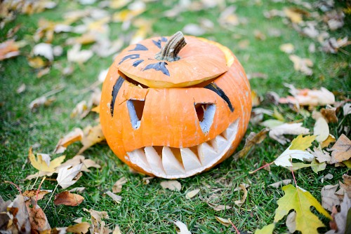 Sharp teeth Halloween pumpkin