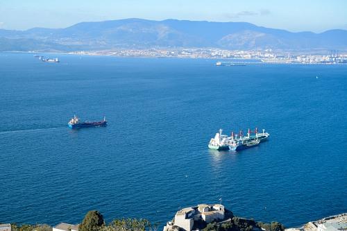 Ships entering port