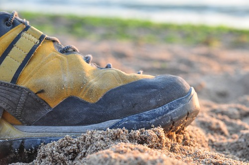 Shoe in sand